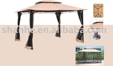 steel double roof gazebo