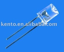 5mm flat top yellow led diode water clear high brightness