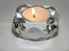 unique tea light holder in crystal