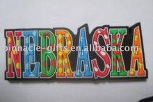 colorful soft PVC fridge magnet/ letter fridge sticker
