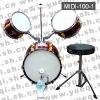 MIDI-100-1 Black Jazz Drum(Red 3-2-1)