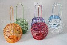 mini globe wire tea light holder