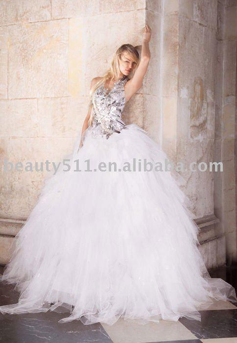 beautiful embroidery black lace wedding dressbridal dresswdx170