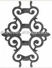 Galvanized cast iron ornamental pickets