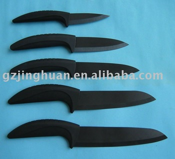 Black sharp Ceramic Knife with ABS handle