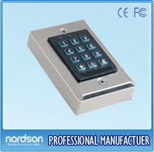 Access Control Keypad Integrated with Lumination (Stainless Steel) - Can be Connected with Door-open Button and Doorbell