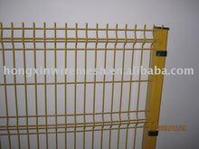 light yellow welded wire mesh post