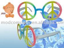 colorful peaceful shape plasitc sunglasses