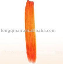 Chinese orange straight remy hair weaving(100%human hair)