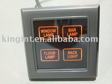 Hotel system,back light, colored touch switch