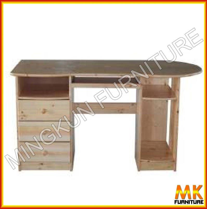 Escritorio de madera de madera de pino muebles de pino - Muebles en madera de pino ...