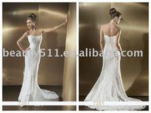 leading style white lace bride wedding dresses SL223