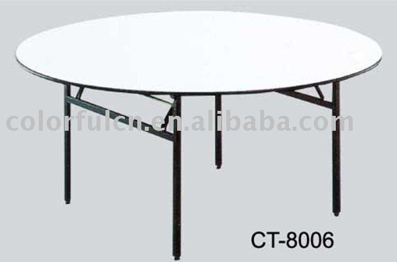 See larger image round folding wedding table