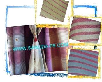 Permanent flame retardant hotel curtain fabric