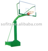 "Official Basketball System with 60"" Acrylic Backboard Basketball Frame Basketball Stand"