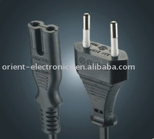 Euro plug with IEC C7 connector/2-pole without earthing contact