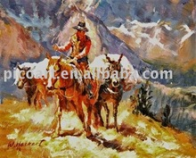 New contemporary cowboy oil painting