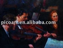 music handmade oil painting