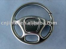 steering wheel metal key ring