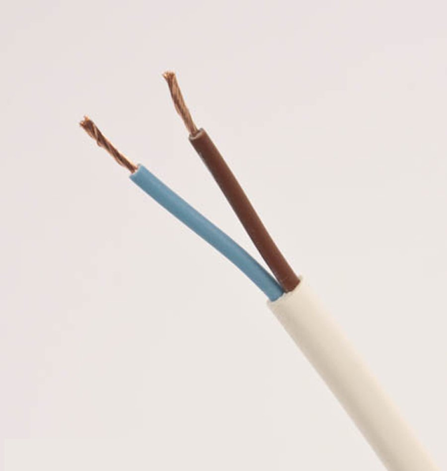 2 Core Wire : Pvc flexible cable core mm view