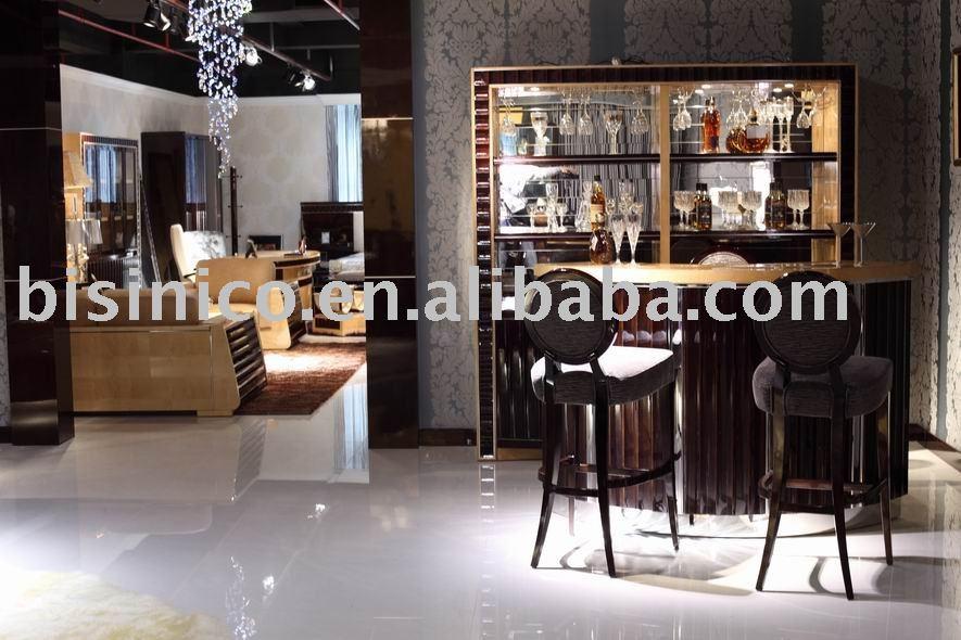 Modern style bar table bar chair and wine cabinet home bar view bar