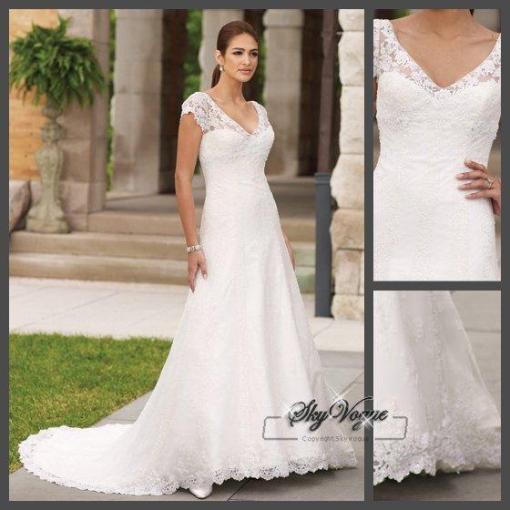 Shoulder cap wedding dresses