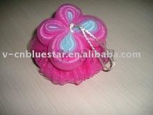 Colorful bath, mesh bath sponge