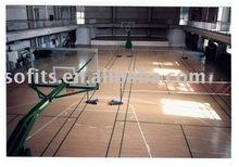 Indoor Basketball Court Sports Wooden Flooring,PP Sports Flooring For Indoor Basketball Halls