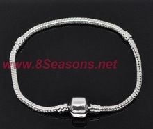 Chain Snap Clasp Bracelets Fit European Charm 21cm