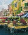 Da paisagem pintada na lona com alta qualidade