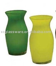 Glass material cased colorful vase