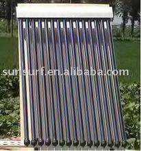 antifreeze fluid pressurized heat pipe vacuum tube solar water heater collector (keymark)