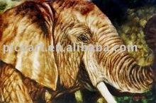 elephant animal oil painting