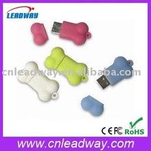 soft PVC with keyhole usb flash drive