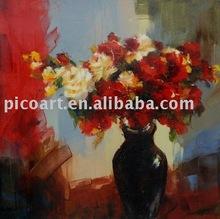 impressionist flower oil painting