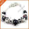 Panda liga de metal pulseira