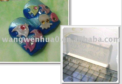 acrylic nail art. 3D acrylic nail art mold(China