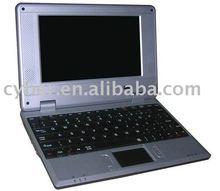 EPC mini laptop wholesale with CPU VIA VT8505 400MHZ wifi windows CE 6 0 system 2GB storage free shipping