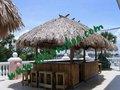 Paja de techo de bambú gazebo