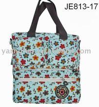 flowers canvas big beach summer handbag