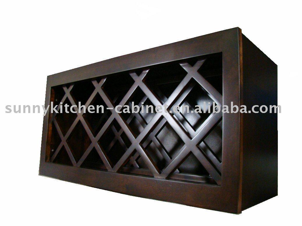 Wooden Wine Rack Under CabiKitchen
