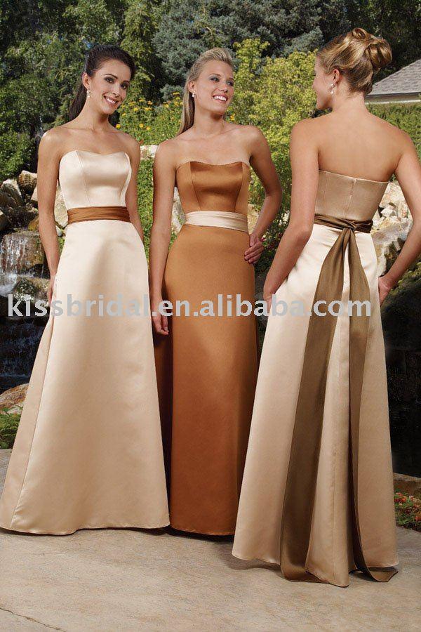 Brown Fall Bridesmaid Dresses I think once of a bridesmaid s