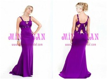 purple sexy chiffon wedding and evening dress ab08