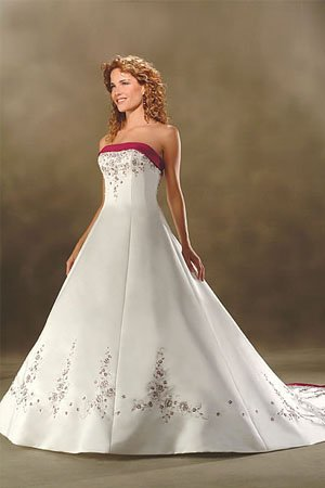 Red Ivory Wedding Dresses