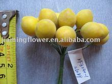 lovely 12 head lemon fruit artificial flower