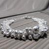 B195 bolas de plata pulsera de moda
