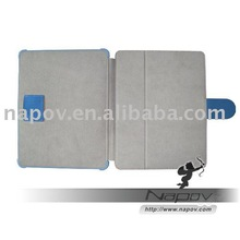 for ipad leather case for ipad , MicroFiber material, super quality (paypal)