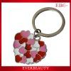 Heart shape fashion keyring/keychains