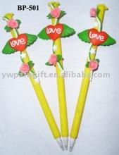 love flower promotional gift ball pen