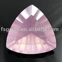 Natural facted pink rose quartz